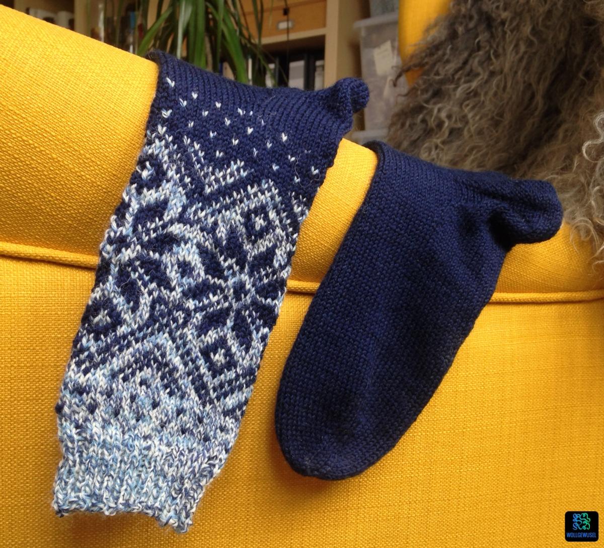 Der erste Versuch: Jacquard-Socken